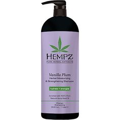 Hempz Vanilla Plum Herbal Moisturizing & Strengthening Shampoo 33.0 oz
