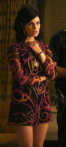 Jessica Paré as Megan Draper in 'Mad Men' Season 6. Costume Designer: Janie Bryant