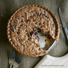 Chocolate Chip Cookie Pie is the classic Southern pie that's like a giant cookie in a pie crust! The ultimate dessert recipe!