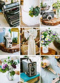 camera centerpieces | camera centerpieces | Ideas para bodas