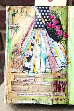 Another one that would make a great canvas for a little girl's room... Mixed Media : Behind The Art | ChristyTomlinson.TypePad.Com