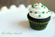 Chocolate Stout Cupcakes with Irish Cream Buttercream