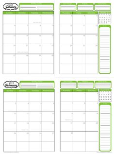 1000 images about 31 days to home management binder for 120 day calendar template