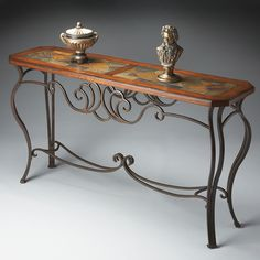 Have to have it. Butler Console Table 33.5H in. - Metalworks - $729 @hayneedle