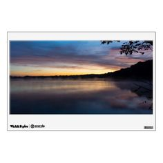 Lake Springfield Autumn Sunrise Wall Decal - photography gifts diy custom unique special