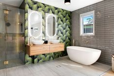 The Hamptons look is rooted in American history but Australians have modernised the trend to suit a more laid back lifestyle. Get the top tips for renovating to achieve the look. Large Stencils, Coastal Style, Clawfoot Bathtub, Palm Springs, The Hamptons, House Design, American History, Building, Modern