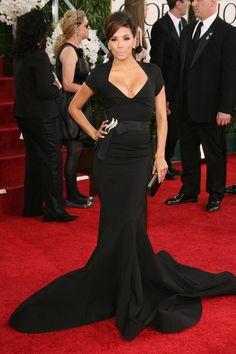 Eva Longoria in a Zac Posen gown.