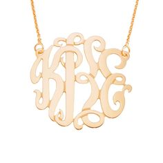 14pMono125 14 K/pink Gold Personalized 1.25 by SilverNStyle, $315.99