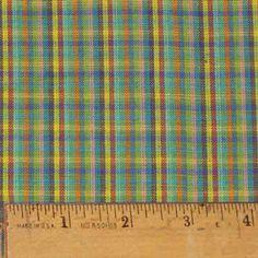 Watercolor Plaid Homespun Fabric -- for bedroom?