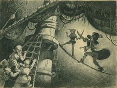 concept art, peter Pan 1953