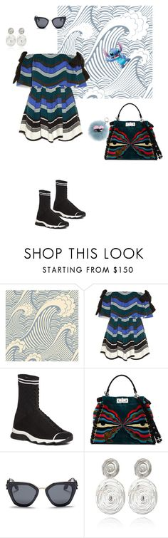 """""""ALL THAT WAVE"""" by noirbeige ❤ liked on Polyvore featuring Fendi, Prada and Gas Bijoux"""