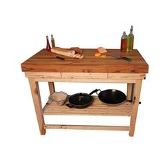x Hickory Kitchen Island Cart, handcrafted by McClure Tables. Butcher Block Island, Butcher Block Kitchen, Butcher Blocks, Kitchen Island Cart, Kitchen Islands, Hickory Kitchen, Made In America, Kitchen Layout, Furniture Making