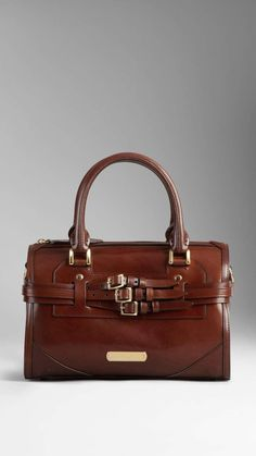 Love the Burberry Medium Bridle Leather Bowling Bag on Wantering #handbag http://www.wantering.com/womens-clothing-item/medium-bridle-leather-bowling-bag/agKWP/
