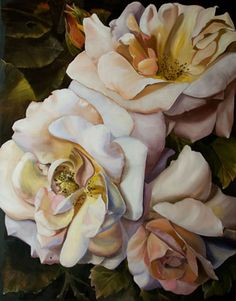 Buy artworks from Frances Keevil Gallery Sydney featuring © Diana Watson Bella Rosa oil on canvas