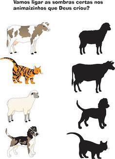 Album Archive - Sombras e quantidades Animal Activities, Preschool Learning Activities, Preschool Worksheets, Preschool Activities, Kids Learning, Preschool Jobs, Farm Animals Preschool, Toddler Preschool, Wild Animals Pictures