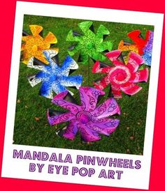 old vinyl records made into outdoor pinwheels!