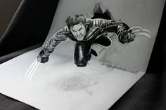 Iza Nagi – Wolverine - Like the X-men? This image of Wolverine is really impressive, in drawing and in deception alike.