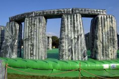 9 Fake Stonehenge Sites (Almost) as Cool as the Original: Sacrilege- the inflatable Stonehenge. Photo by David Hastings