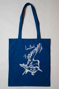 Stoffbeutel Siebdruck Lovebird von garageprint auf DaWanda.com