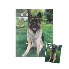 16x20 painting from photo custom pet portrait on by SWISHandWAG