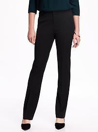 Pantalon en sergé décontracté à taille moyenne pour femme