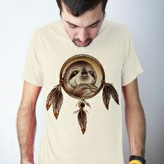 Men's Spirit Sloth Tee on the redditgifts Marketplace
