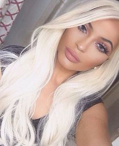 White Blonde Wig Long Straight Lace Front Synthetic Hair Wigs For Women Heat OK Frontal Hairstyles, Wig Hairstyles, White Blonde, Light Blonde, Black White, White Lace, Blonde Wig, Ash Blonde, Blonde Balayage