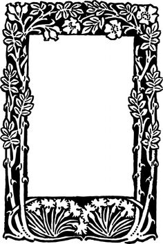 Free Vector – Floral Border Frame | Oh So Nifty Vintage Graphics