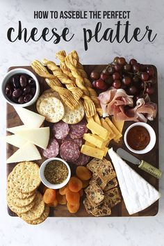 Trendy Ideas For Cheese Plate Presentation Appetizers Appetizer Recipes Charcuterie And Cheese Board, Charcuterie Platter, Cheese Boards, Meat Platter, Antipasto Platter, Cheese Appetizers, Appetizer Recipes, Party Appetizers, Party Snacks