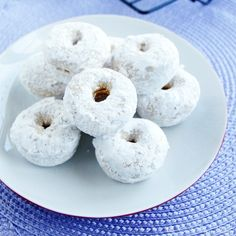 I cut this recipe in half and made 5 big donuts, but it was super quick and easy! Baked Mini Powdered Donuts   My San Francisco Kitchen