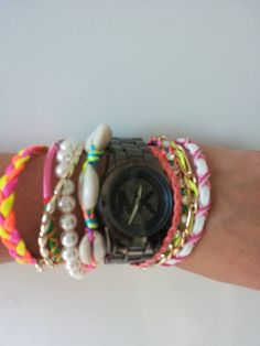 MK style horloge met Ibiza armband