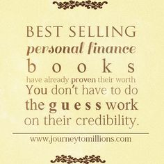 Best selling personal finance books have already proven their worth.
