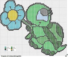 TURTLE WITH FLOWER by CRAFTSANDTHINGS2004