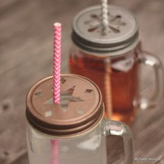 Image of Couvercles marguerite ou étoiles vintage  pour pots mason jar