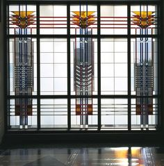 Arthur Stern Architectural Glass Stained Glass Window Frank Lloyd Wright