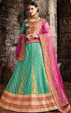 Mystical Turquoise Bridal Lehenga Choli