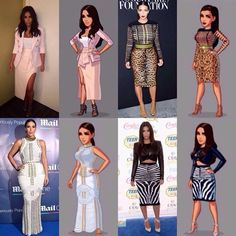 Kimmy K's most popular oufits in the game and in real life !!!!
