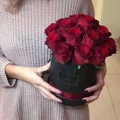 Luxury Roses Red Roses Black flower Box Secret Bloom Boxes