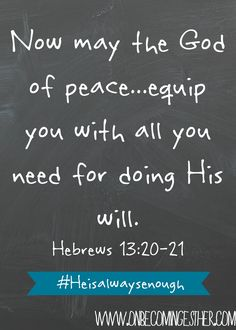 Hebrews 13:20-21