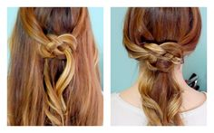 How to: Celtic Knot Half Updo and Ponytail! An actual video! She has A LOT of great tutorials and tips for your hair. Especially if you have fine hair!