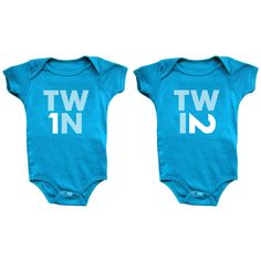 I liked this design on #Fab. Twin 1 & Twin 2 Onesies Blue