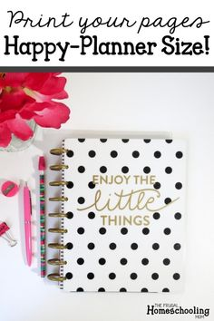 Did you know that you can print your homeschool planner pages to fit your Happy Planner? Here's how you can print your homeschool planner to fit. #free #homeschool #calendar #planner #homeschooling #homeschoolplanning #freeplanner #homeschoolcalendar Free Planner, Planner Pages, Happy Planner, Printable Planner, Mom Blogs, Frugal, Are You Happy, Prints, Homeschooling