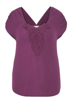 plus size top with crochet - maurices.com