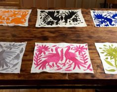 Beautiful thin table runners, hand embroidered by the Otomi people from Hidalgo, Mexico  22 x 180 cm.  This Fabric is 100% Natural cotton and very exclusive.  It takes them 6 months for a piece of 2 x 2.  Located in Mexico DF  Prices are in USD