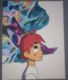 """done for my lil bro for christmas, """"zach vs the world"""" Vs The World, Canvas Art, Canvas Prints, Bro, Disney Characters, Fictional Characters, My Arts, Disney Princess, Artwork"""