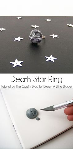 Star Wars Death Star Ring | It's amazing what you can do with a bit of Sculpey and Mod Podge! This easy DIY ring tutorial is perfect for the Star Wars fan in your life!