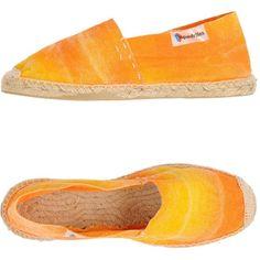 Espadrilles Espadrilles ($51) ❤ liked on Polyvore featuring shoes, sandals, orange, orange sandals, round cap, orange flat shoes, orange espadrilles and round toe shoes