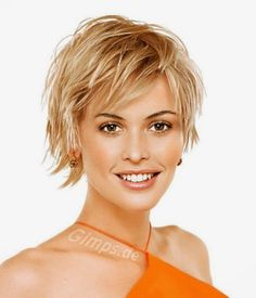 Short shag haircuts for thick hair hair-i-want Shaggy Short Hair, Short Thin Hair, Short Hairstyles For Thick Hair, Haircut For Thick Hair, Hairstyles For Round Faces, Short Haircuts, Shaggy Hairstyles, Layered Hairstyles, Trendy Hairstyles