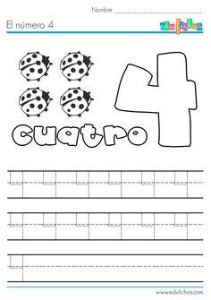 El número cuatro: http://edufichas.com/actividades/matematicas/numeros/el-numero-4-ficha-con-actividades/