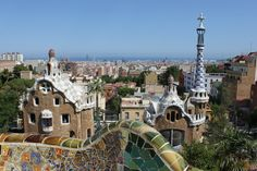 Parc Guell, Barcelona, Spain: Another Gaudi work of architectural art. Barcelona Vacation, Barcelona City, Barcelona Travel, Parc Guell, Cruise Excursions, Ubud, Voyage Europe, Cities In Europe, Best Cities